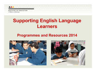 Supporting English Language Learners - ESOL - Literacy Online