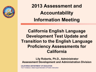 Transition to ELPAC - California Department of Education