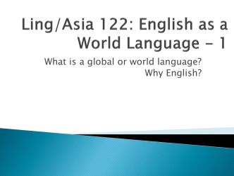 Why English? [PPT]