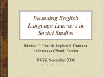 Including English Language Learners in Social Studies
