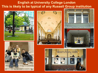 Getting into English - The Kings School Grantham