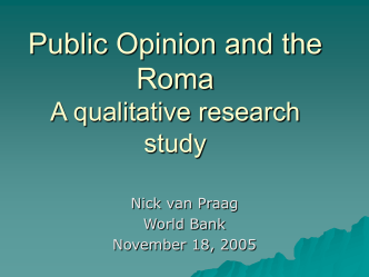 Measuring Attitudes toward the Roma: A qualitative