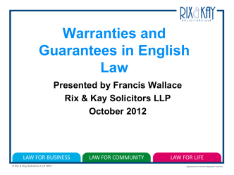 Warranties and Guarantees in English Law_4226782_1