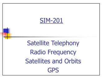 Satellite Phone, Orbits, GPS