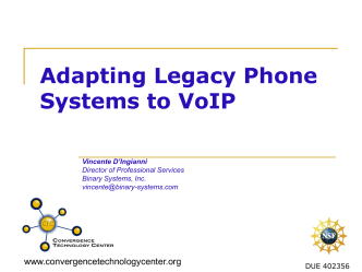 Adapting Legacy Phone Systems