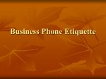 Business Phone Etiquette