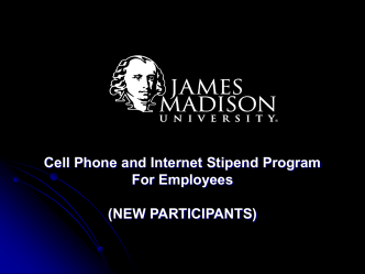 Cell Phone and Internet Stipend Program for Employees
