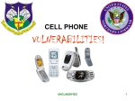 CELLULAR PHONE VULNERABILITY!