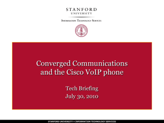 On the Phone - Stanford University