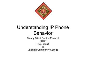 Understanding IP Phone Behavior - Faculty Website Index Valencia
