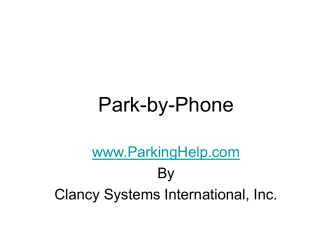 Download - Park-By