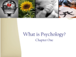 Psychology: Past, Present and Future