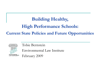 State High Performance School Building Laws