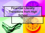 Financial Literacy Transitions from High school