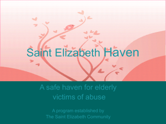 Saint Elizabeth Haven - Rhode Island Division of Elderly Affairs