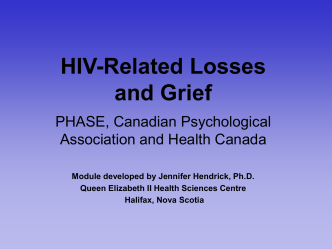 HIV-Related Losses and Grief
