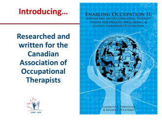Enabling Occupation - Canadian Association of Occupational