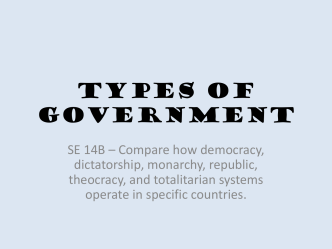 TypesofGovernment