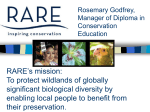RARE Center for Tropical Conservation – founded 1973