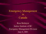 Emergency Management in Canada