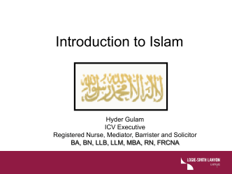 The Muslim Patient - Australian College of Nursing
