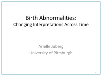 Birth Abnormalities: Changing Interpretations Across Time