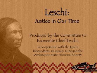 Chief Leschi - Washington History Online