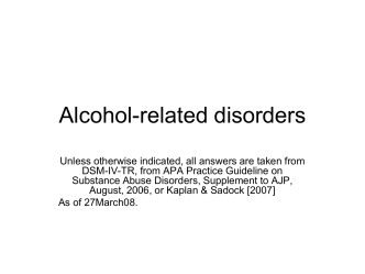 Alcohol-related disorders
