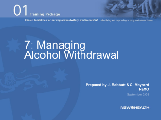 presentation-07-managing alcohol withdrawal