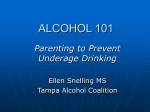 Alcohol 101 - Parenting to Prevent Underage Drinking