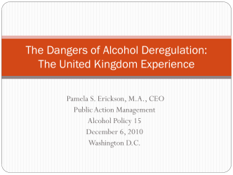 The Dangers of Alcohol Deregulation