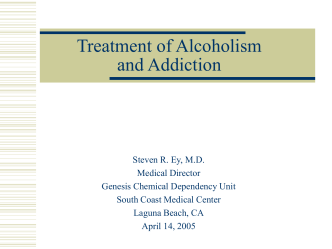 Treating Alcohol Dependence