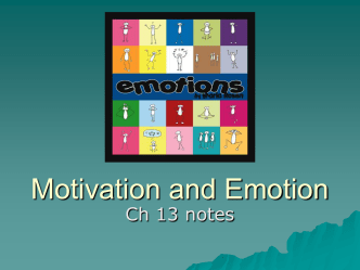 Ch 13 Motivation and Emotion