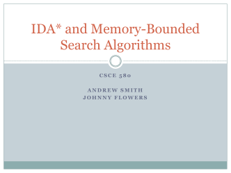 IDA* and Memory-Bounded Search Algorithms