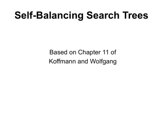 Self-Balancing Search Trees
