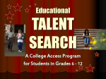 Talent Search Presentation - Oklahoma State University