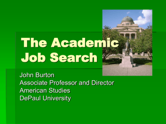Overview: The Academic Job Search