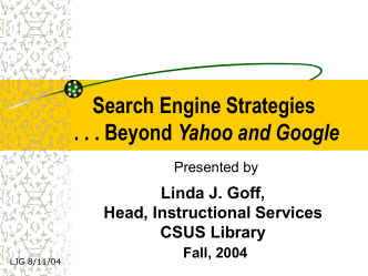 PPT Search Engine Strategies - Library