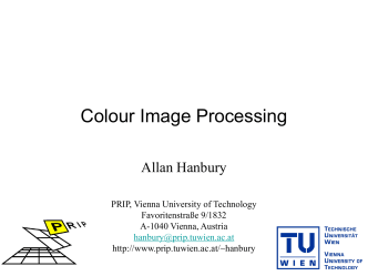 Colour Image Processing