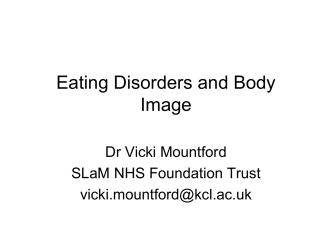 Eating Disorders and Body Image