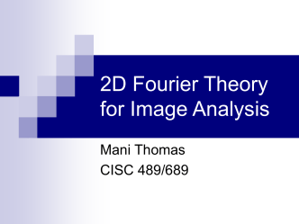 2D Fourier Theory for Image Analysis