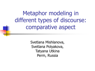 COMPARATIVE STUDIES OF METAPHOR IN MEDICAL AND …