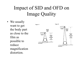 Affects of Source to Image Distance