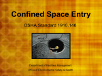 Confined Space Entry - Murray State University