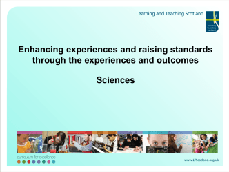 SLF 2010: Sciences - Education Scotland