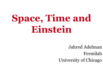 Space, Time and Einstein