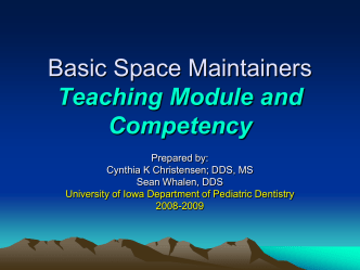 Concepts in Space Management