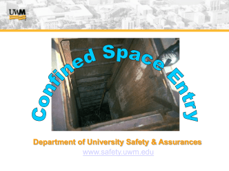 Confined Space Entry - University of Wisconsin–Milwaukee