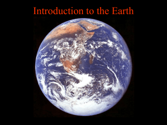 Introduction to the Earth
