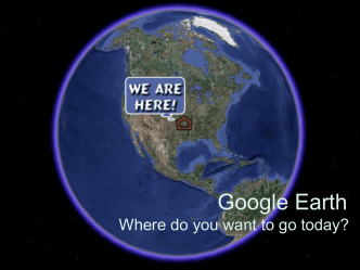 Google Earth - Projects By Jen